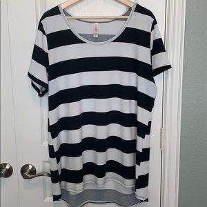 LLR Classic 2xl Black/white stripes
